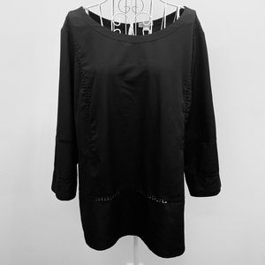 Womens Merona Black Blouse, Size XXL